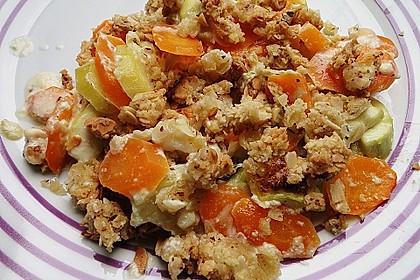 Gemüseauflauf mit Mandelstreusel 1