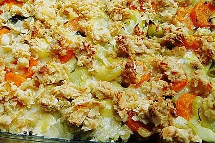 Gemüseauflauf mit Mandelstreusel 2