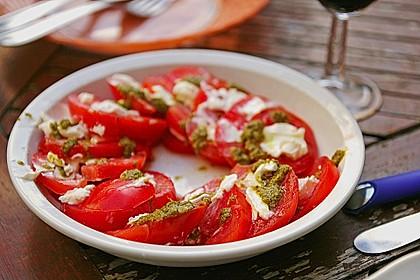 Tomaten-Pesto-Vorspeise