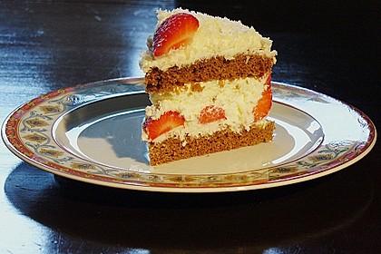 Erdbeer-Kokos-Torte (Bild)