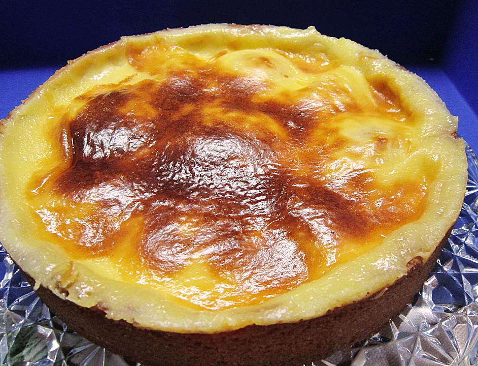 Pfirsich Pudding Kuchen