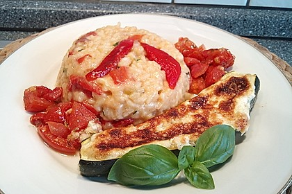 Gefüllte Zucchini mit Ziegenkäse-Salbei-Honig Füllung 6