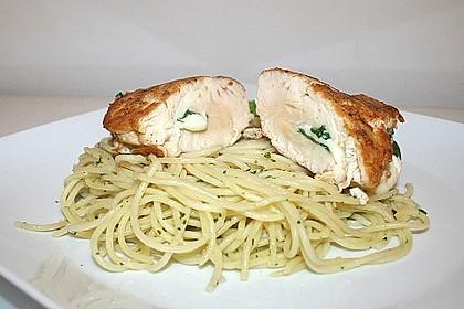 Gefüllte Piccata mit Knoblauchspaghetti 1