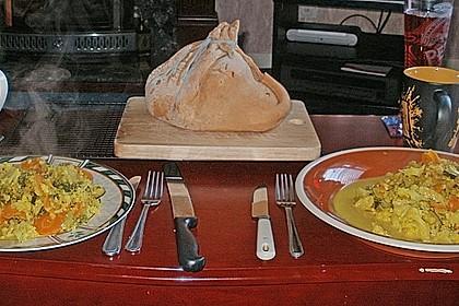 Gemüse-Korma mit Salzkartoffeln im Säckchen 1