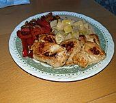 Paprika-Hähnchenpfanne mit Mangosauce (Bild)