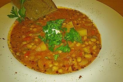 Vegetarischer Bohneneintopf 2