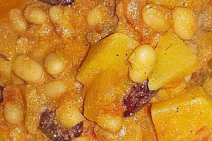 Vegetarischer Bohneneintopf 3