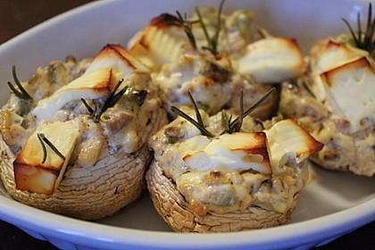 Gefüllte Champignons mit Oliven und Feta 1