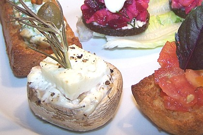 Gefüllte Champignons mit Oliven und Feta 4