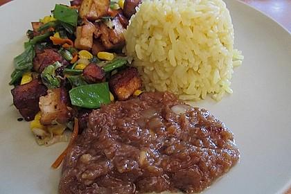 Asia-Gemüsepfanne mit Erdnusssauce 12