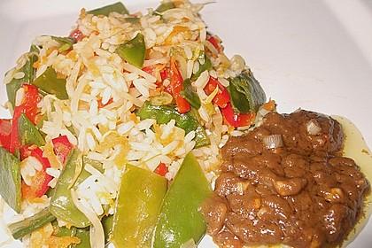 Asia-Gemüsepfanne mit Erdnusssauce 9
