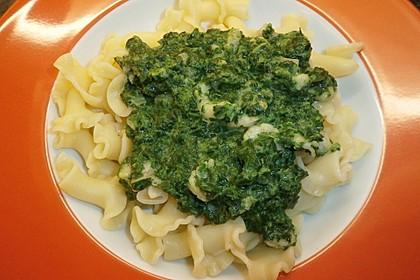 Pasta mit Garnelen in Spinat-Frischkäse-Sauce 6