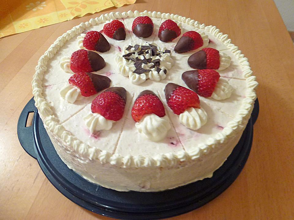 Erdbeer Rhabarber Torte Von Anja1973 Chefkoch De