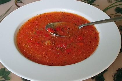 Paprika-Tomatencreme-Suppe 7