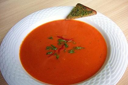 Paprika-Tomatencreme-Suppe 3