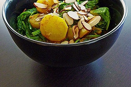 Indisches Kartoffel-Spinatgemüse
