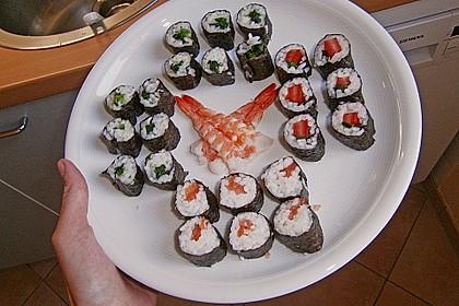 Sushi mit Tomate und Mozzarella 1