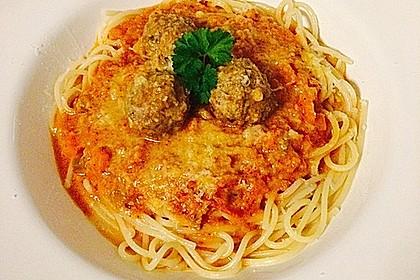 Albertos Spaghetti mit Meatballs (Bild)