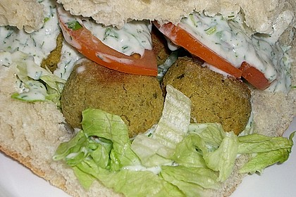 Schnelle Falafel in Pitabrot 39