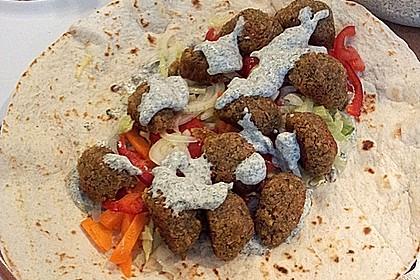 Schnelle Falafel in Pitabrot 19