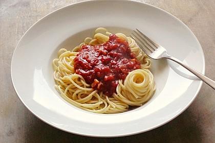 Spaghetti mit Tomaten-Chutney (Bild)