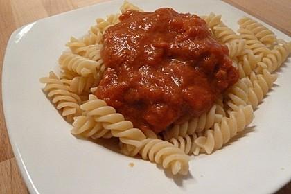 Spaghetti mit Tomaten-Chutney