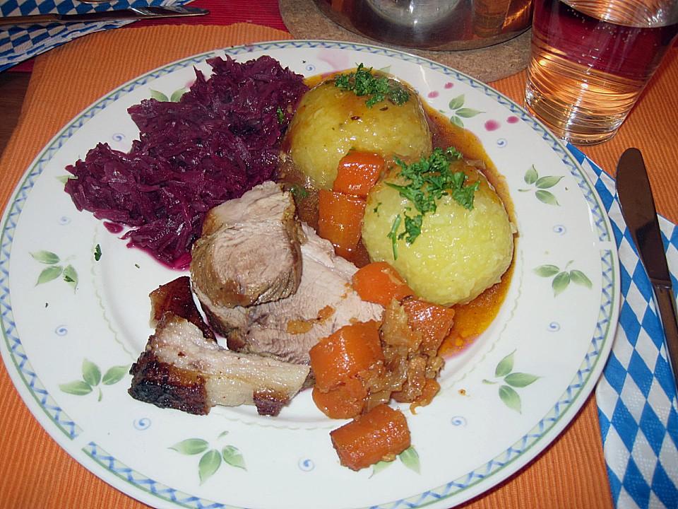 bayerischer schweinebraten rezept