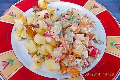 Herbstliche Kartoffel - Gemüse Pfanne mit Pastinaken