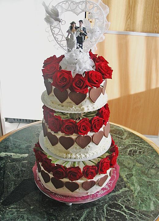 Hochzeitstorte Von Blauhijkl Chefkoch De