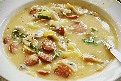 Champignon - Kartoffel - Suppe 3