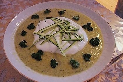 Zucchinicremesuppe mit Lachs 5
