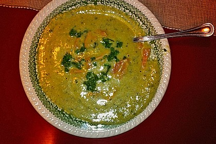 Zucchinicremesuppe mit Lachs 7