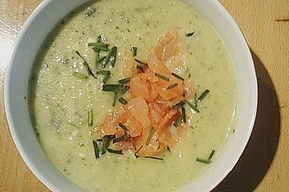 Zucchinicremesuppe mit Lachs 6