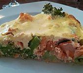 Brokkoli - Lachs - Quiche (Bild)