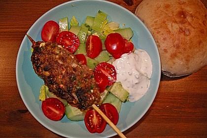 Spieße mit Lammhackfleisch und Schafskäse 6