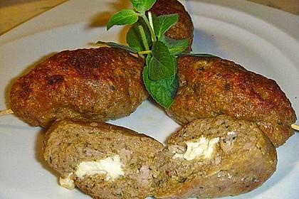 Spieße mit Lammhackfleisch und Schafskäse 3
