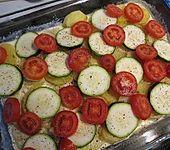 Tomaten - Zucchini Gratin mit Filet (Bild)