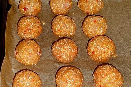 Hühnerbällchen mit Sesam 3