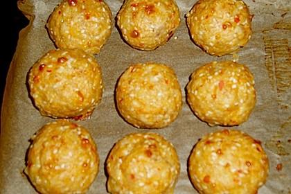 Hühnerbällchen mit Sesam 2