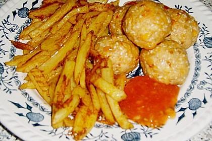 Hühnerbällchen mit Sesam 1