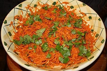 Karottensalat mit Ingwer und Koriander