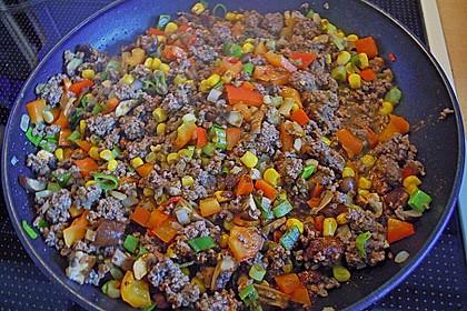 Würzige Burritos mit Reis und Sourcream 4