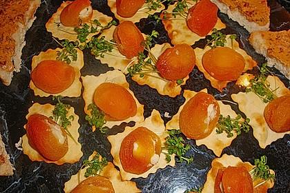 Aprikosen mit Feta- oder Frischkäse zum Apéro