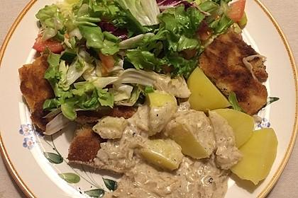 Panierte Koteletts mit Zwiebel-Rahm-Soße 24
