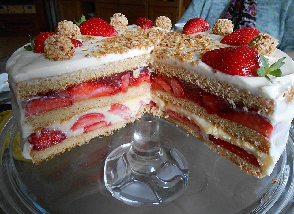 Erdbeer Vanille Pudding Doppeldecker Von Yunasama Chefkoch De