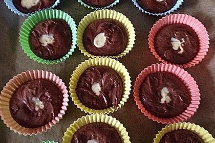 Double Chocolate Cheesecake Muffins 8