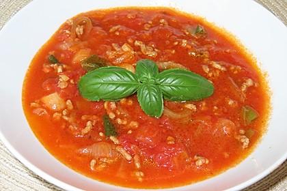 Zwiebel-Hack Suppe (Bild)