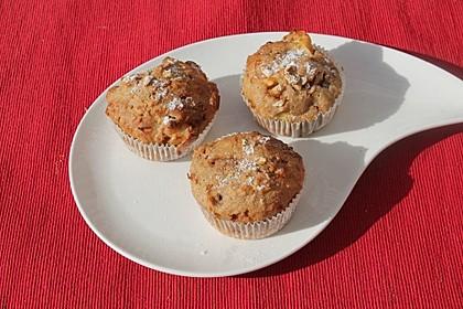 Leichte Apfel-Muffins mit Haferflocken und Zimt 15