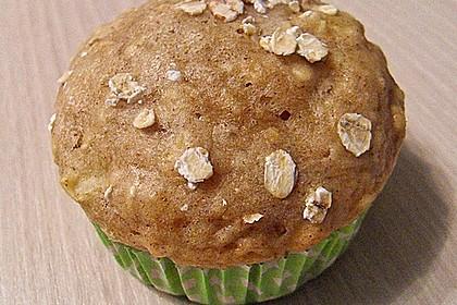 Leichte Apfel-Muffins mit Haferflocken und Zimt 3