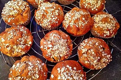 Leichte Apfel-Muffins mit Haferflocken und Zimt 4